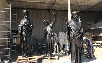 Les statues de la flèche de Notre-Dame restaurées